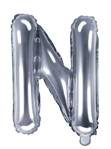 Folienballon N silber 35cm