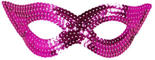 Pink sequin eye mask Diana