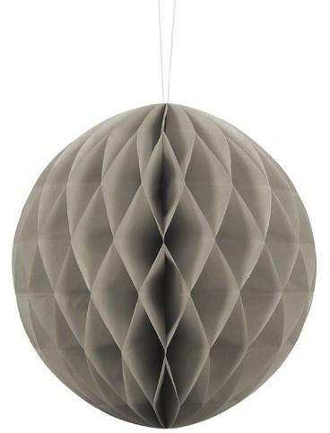 Honeycomb ball Lumina dark gray 20cm