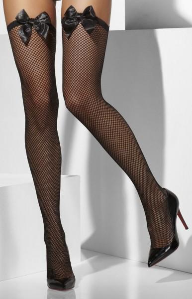 Sexy calze a rete Miri con fiocco