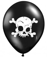 6 Totenkopf Luftballons Little Teeth 30cm