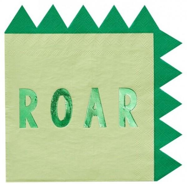 16 serviettes Roarsome Dino 33cm