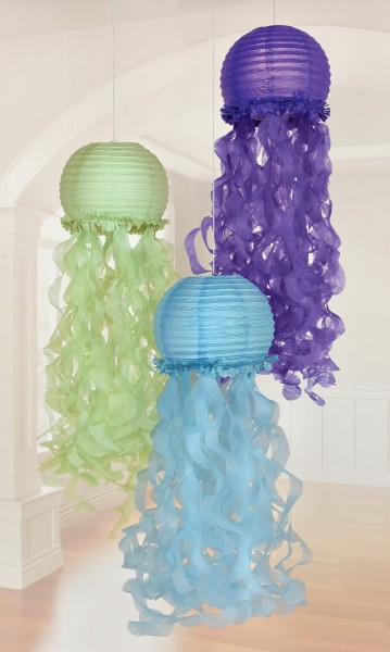 3 shellebrate mermaid lanterns