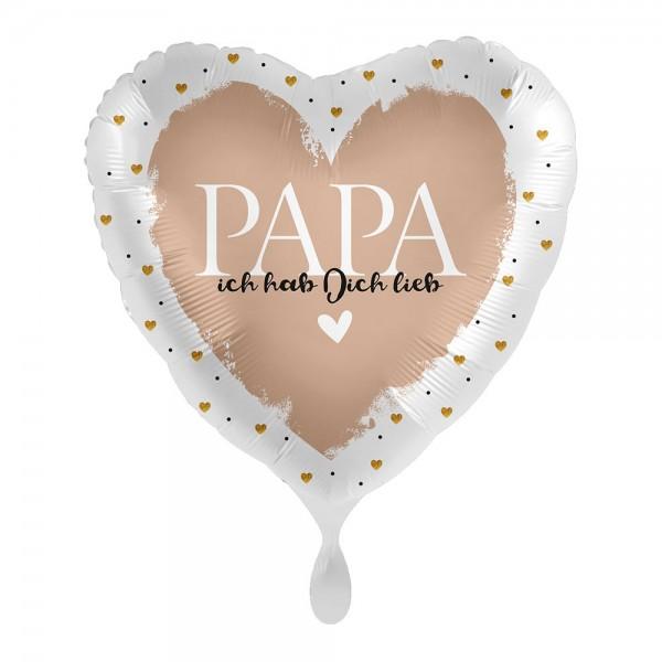 Papa hab dich lieb Herz Folienballon 43cm