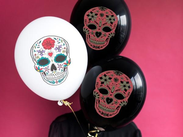 50 Fest der Toten Ballons weiß 30cm
