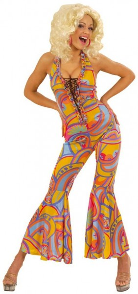Funky 70s disco lady jumpsuit