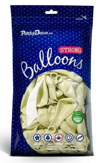 50 Partystar Luftballons creme 30cm