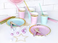 6 Candy Party Pappteller hellrosa 18cm