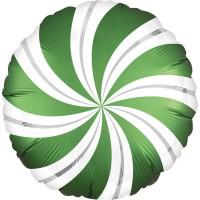 Ballon en aluminium sucette vert 45cm
