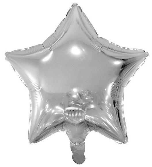 Globo de lámina Shiny Star plateado 48cm