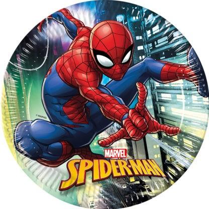 Spiderman Team Up 8 papierowych talerzy 23 cm
