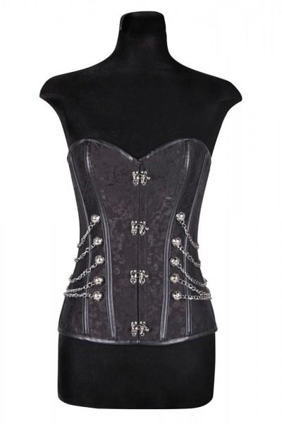 Corsage chaîne Gothic Queen noir