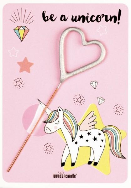 Carta delle meraviglie dell'unicorno rosa Sii un unicorno