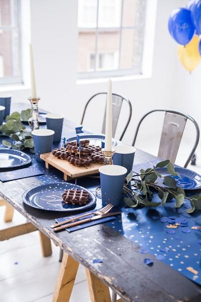Cake decoration numbers 15cm Elegant blue