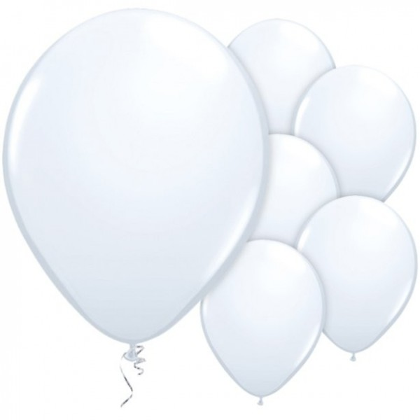 25 globos blancos Passion 28cm