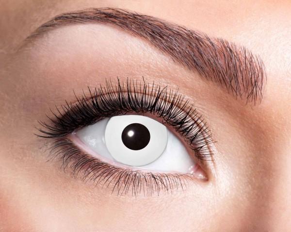 Contactlenzen met witte ogen Driemaandelijkse lens