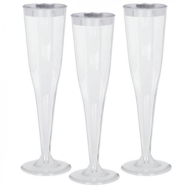 8 verres à champagne en plastique de haute qualité