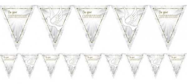 Confirmation pigeons pennant chain 4m