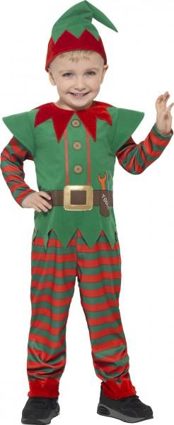 Disfraz de elfo navideño de ayudante de Papá Noel con sombrero