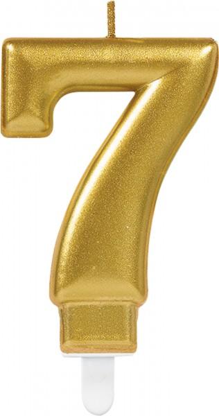 Goldene Zahlenkerze 7