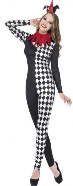 Verspieltes Harlekin Damen Kostüm