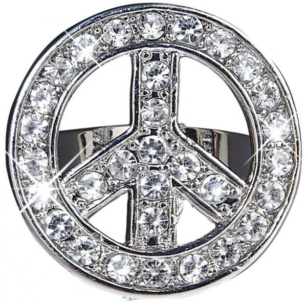 Anillo de diamantes de imitación Love and Peace