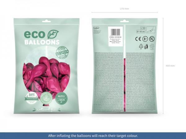 100 Eco metallic Ballons pink 30cm