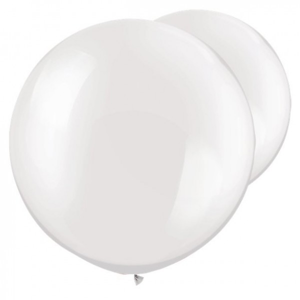 2 white giant balloons mother of pearl 76cm