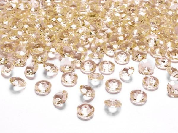 100 Streudeko Diamanten gold 1,2cm