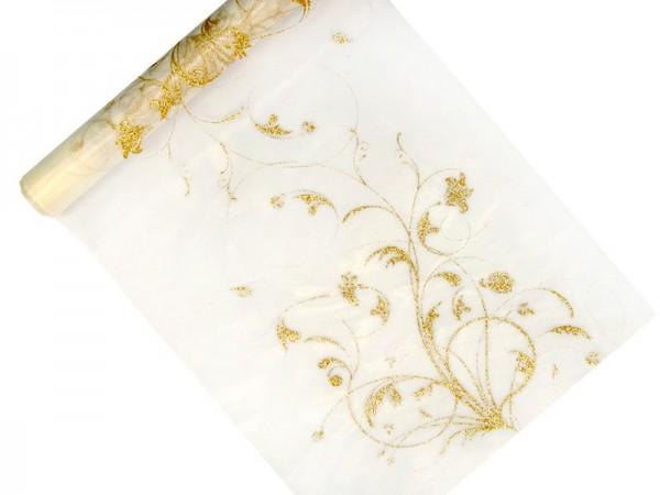 Goldener Organza Campanula 9m x 36cm