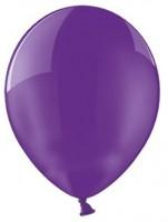 100 Transparente Partystar Ballons lila 27cm