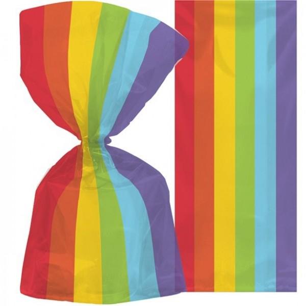 25 sacchetti regalo arcobaleno 29 cm