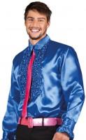 Rudi Rüschenhemd in Blau Für Herren