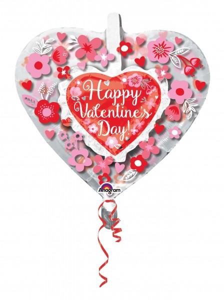 Ballon coeur Hidden Love 66cm
