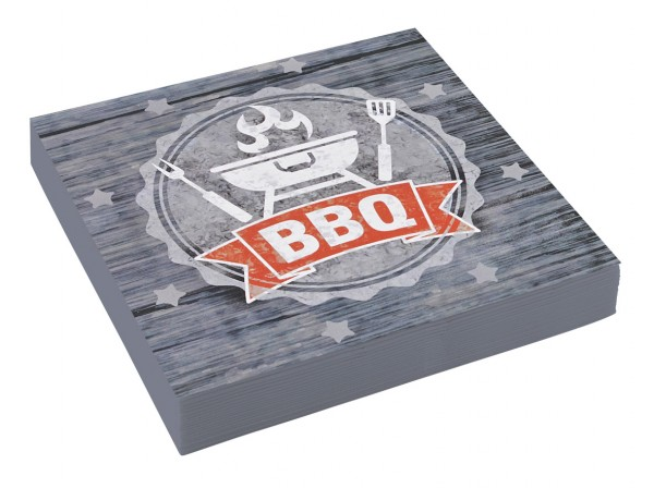 20 Barbecue Servietten 33cm