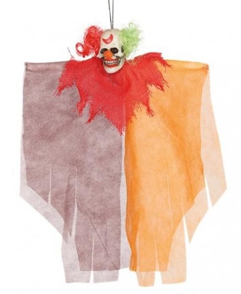 Décoration à suspendre clown d'horreur zombie 30cm