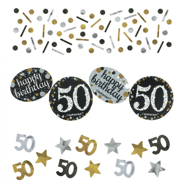 Golden 50th Birthday sprinkle decoration 34g