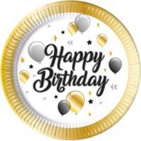 8 Milestone Birthday Pappteller 23cm