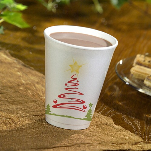 50 thermo cups Christmas Tree 250ml