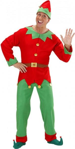 Disfraz de ayudante navideño de gnomo para hombre