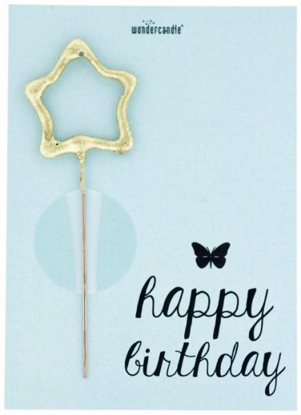 Carta miracolosa azzurra per il compleanno