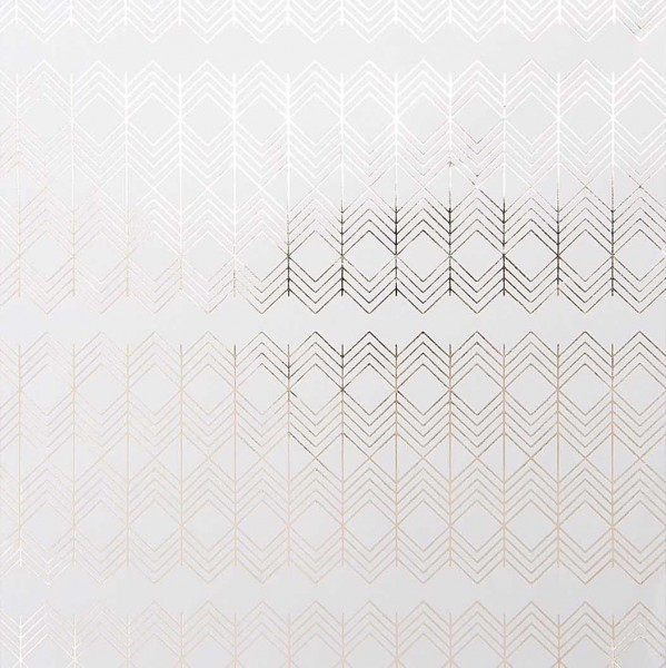 Papier d'emballage zig zag FSC blanc-argent