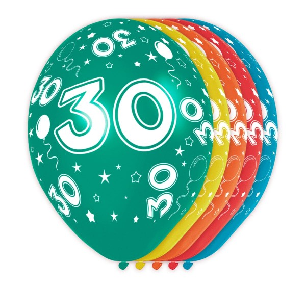 5 ballons Big 30 30cm