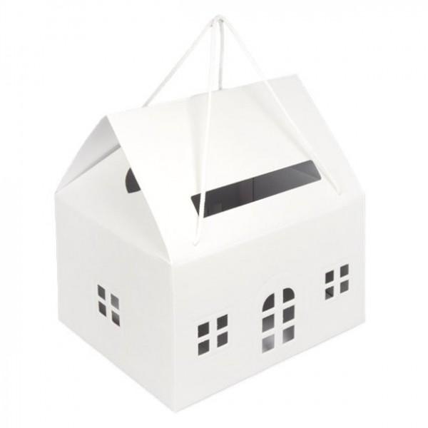 Kartenbox weißes Haus 33,5cm