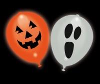 5 LED Ballons Halloween leuchtend 23cm