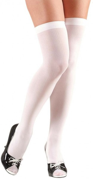 White overknee stockings Jule 70 DEN