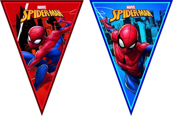 Cadena de banderines Spiderman Team Up 2,3 m