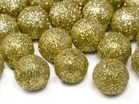 25 Glitzernde Dekobälle in Gold