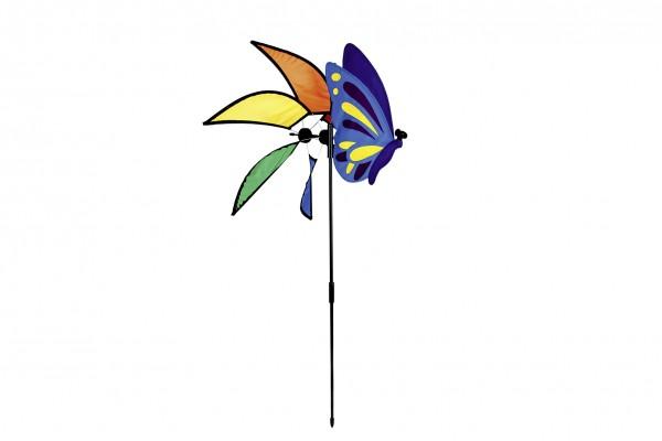 Windmühlen Deko Mit Schmetterling 83cm