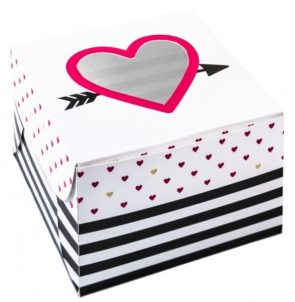 2 pudełka na muffinki Little love 7,5 x 11,5 cm